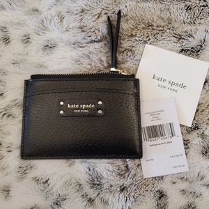 NWT Kate Spade small zip card holder wallet